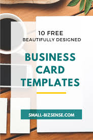 Free Business Card Designs Templates 10 Beautifully Designed Free Small Business Card Templates