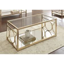 Silver Sofa Table Steve Silver Olympia Glass Top Coffee Table In Gold Chrome Ol100cg