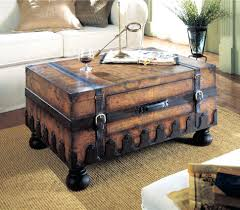 wooden trunk coffee tables suitcase end tables storage trunk coffee table