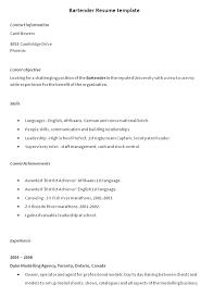 sle professional resume templates free bartender resume templates nicetobeatyou tk