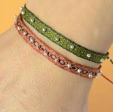 woven ribbon telar egipcio tablet weaving ribbon adjustable bracelet with