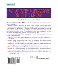 what every supervisor should know lester r bittel john w