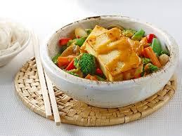 légumes faciles à cuisiner tofu croustillant sauce aux arachides recette légumes surgelés