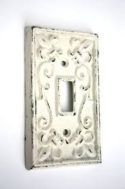 Shabby Chic Switch Plate by Shabby Cottage Chic Cast Iron Switch Plate Cover