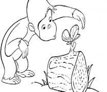 curious george download free printable coloring pages