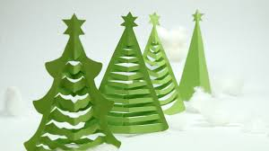how to make christmas tree in 5 min at home with origami paper