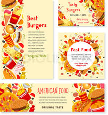 fast food lunch menu poster with price set hamburger pizza