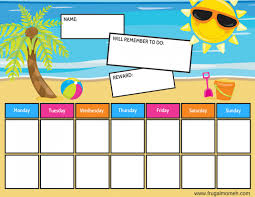 ocean u0026 beach themed free printable chore charts frugal mom eh