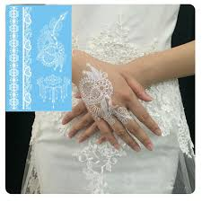 latest design white henna tattoo paste lace wedding bride necklace