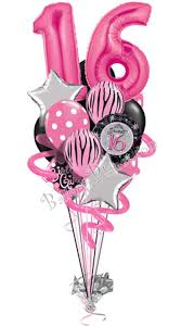 birthday balloon bouquet delivery sweet sixteen birthday balloon bouquet 16 balloons balloon