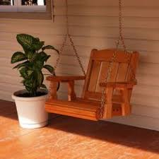 wood swings co engravable wooden swing chair porch