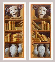 Bookshelves San Francisco by Art Studio Sergey Konstantinov Painting Bookshelves Ann Getty
