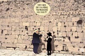 trump visits the western wall by nem0 politics cartoon toonpool