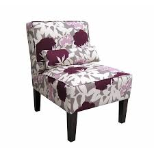shop skyline furniture clark collection plum accent chair at lowes com
