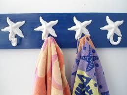 starfish towel starfish towel rack towel hooks pool towel cottage chic