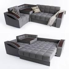 Corner Sofa Sleeper 3d Model Corner Sofa Bed Montreal With A Left Angle Hoff