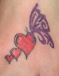 simple butterfly and cool heart tattoo design tattooshunter com