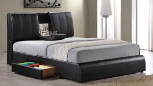 Bed With Storage In Headboard Bed Frames Espresso King Storage Bed King Storage Bed Frame