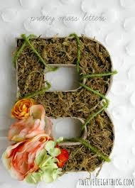 Monogram Letters Home Decor by Blooming Moss Monogram Letters Twelveoeight