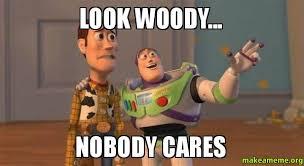 Meme Nobody Cares - look woody nobody cares make a meme