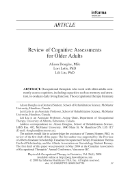 independent living scales manual review of cognitive assessments for older adults pdf download