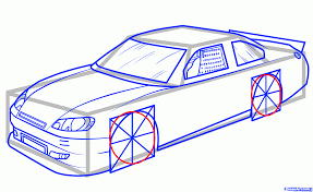 car drawing how to draw jeff gordons car 24 step by step sports pop culture