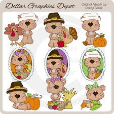 baby bears thanksgiving clip 1 00 dollar graphics