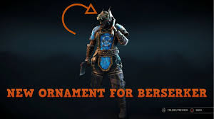 for honor new ornaments 2v2 s with berserker