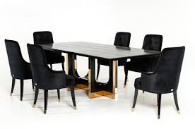 Modern Black Dining Room Sets by Armani Xavira Dining Room Furniture