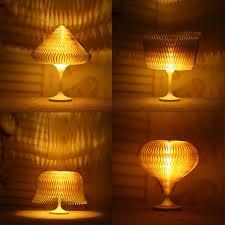 amber led book light changeable mini led table l usb charging folding book lights