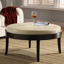 ottomans tufted ottoman storage round leather coffee table round