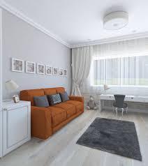 Orange Sofa Living Room by Classic Style Children Room Whit Orange Sofa 3d Model Cgstudio