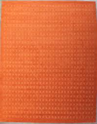 Orange Modern Rug Garuda Woven Wool Area Rugs Contemporary Modern