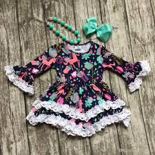 2017 girls clothes baby kids clothes unicorn print cotton fall