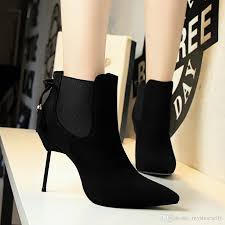 womens boots in style 2017 2017 chelsea style black knot pointed toe high heel shoes