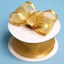 ribbon with wire 1 5 organza ribbon with wire edge gold 10 yard efavormart