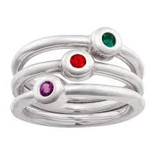 stackable birthstone ring sterling silver stackable birthstone rings set of 3 41374