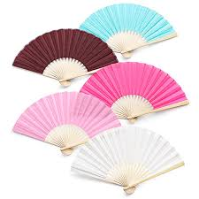 wholesale fans 50pcs free shipping wholesale personalized logo on bamboo silk