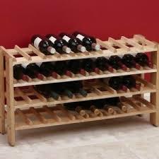 40 bottle solid birch wood wine rack
