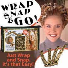 snap hair wrap snap and go comfort hair rollers new easy