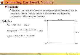 Excavation Estimating by Lecture 3 Earthmoving Materials Ppt