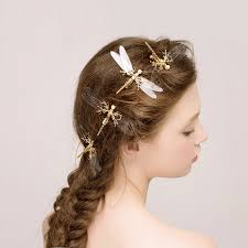 butterfly hair transparent bridal hairpin wedding hair pins gold