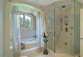 Shower Curtains For Glass Showers Shower Doors Vs Shower Curtain Gopelling Net
