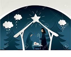 nativity scene with holy family royalty free cliparts vectors