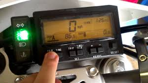 how to quickly reset trip meter on drz400sm youtube