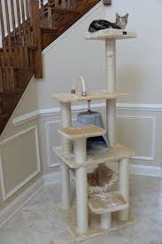 Cat Scratcher Tower Armarkat 65 Inch Cat Tree Beige Silver Gray Chewy Com