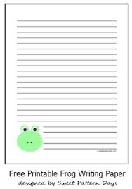 printable animal lined paper frog shaped writing paper google search animal groups science