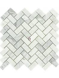 buy 1x2 arabescato carrara herringbone pattern honed wallandtile com