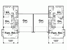 house plan for narrow lot eplans country house plan narrow lot craftsman duplex 3298