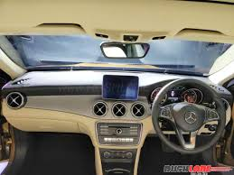 mercedes dashboard at night mercedes benz india launches more powerful gla 220d activity edition